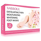 2 Pairs Vassoul Foot Peel Mask, Feet Callus Remover & Dead Skin Remover, Moisturizing and Whitening Feet, Baby Your Feet Naturally