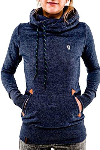 Cutiefox Leisure Side Pockets Front Slim Fit Fleece Hoodie Sport Sweatshirt(Blue,M) (Double Hooded Sweatshirt compare prices)