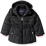 LiMiTeD Too Big Girls' Too Puffer W/Sweater Knit Trim, Black, 7/8