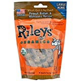 Riley's Organics Large Bone Peanut Butter & Molasses Dog Treats-5 oz Bag