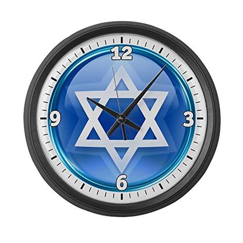 Large Wall Clock Blue Star of David Jewish by Royal Lion