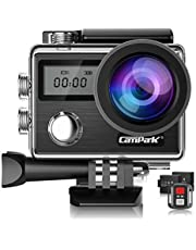Campark ACT74 Action Camera 4K 16MP Waterproof Camera 30M Christmas New Year Birthday Festival Gift, Compatible with gopro