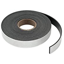 "Master Magnetics Flexible Magnet Strip with Adhesive Back, 1/16"" Thick, 3"" Wide, 10 Feet (1 Roll)"
