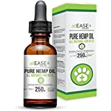 Hemp Oil for Dogs, Cats and Pets - Organic Hemp Oil for Dog Calming or Cat Calming Anxiety & Stress Relief, Arthritis, Hip & Joint Pain Supplement- Ease Allergies & Itchy Dry Skin- Can Apply to Treats