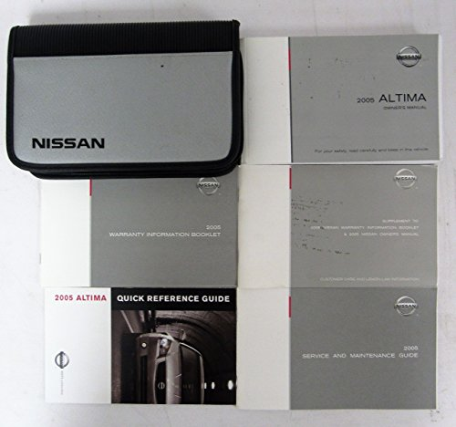 2005 Nissan Altima Owners Manual Guide - Nissan Manual 2005 Owners Altima