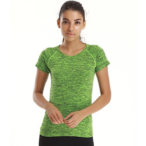 YAHA Women's Workout T-Shirt (Green, S)