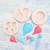 Fewo 3Pcs/Set Hot Air Balloon Fondant Molds