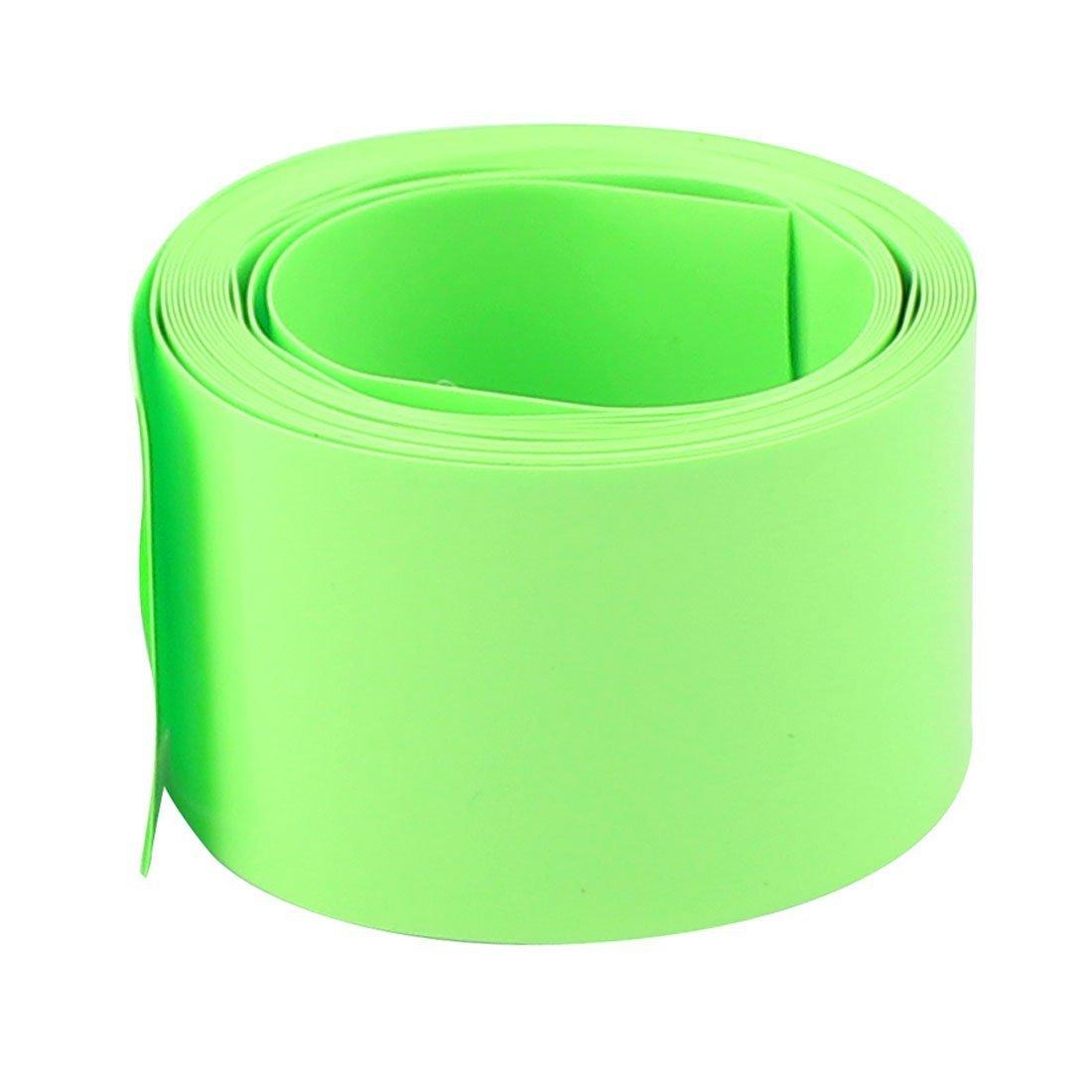 sourcingmap® 18, 5 mm Durchmesser 2 m Länge PVC Schrumpfschlauch Schläuche Batterie Wickeln Grün a16083100ux0335
