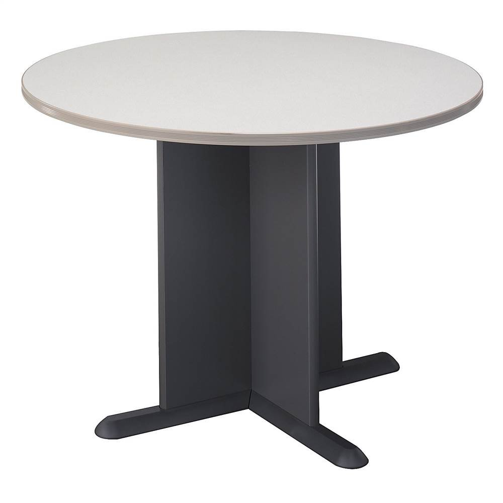 Pewter Colored Diamond Coat Round Conference Table