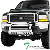 Topline Autopart Polished Stainless Steel Bull Bar Brush...