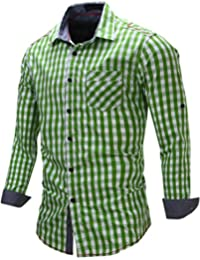 Men's Cotton Long Sleeve Button Down Casual Shirts