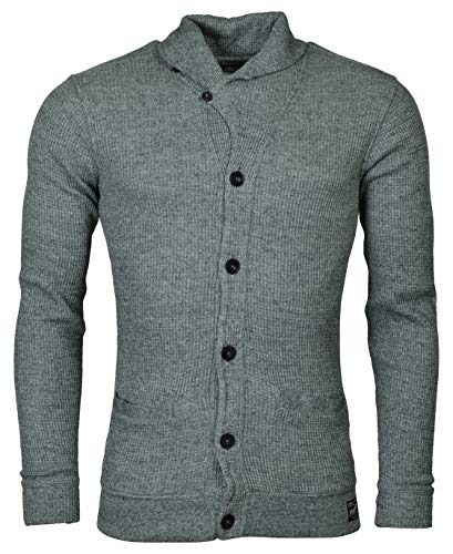 Polo Ralph Lauren Mens Thermal Vintage Cardigan Sweater Gray XXL