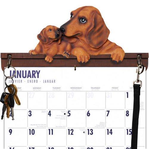 Dachshund Leash Hook - Dachshund Calendar Caddy & Leash Hook by DogBreedStore.com