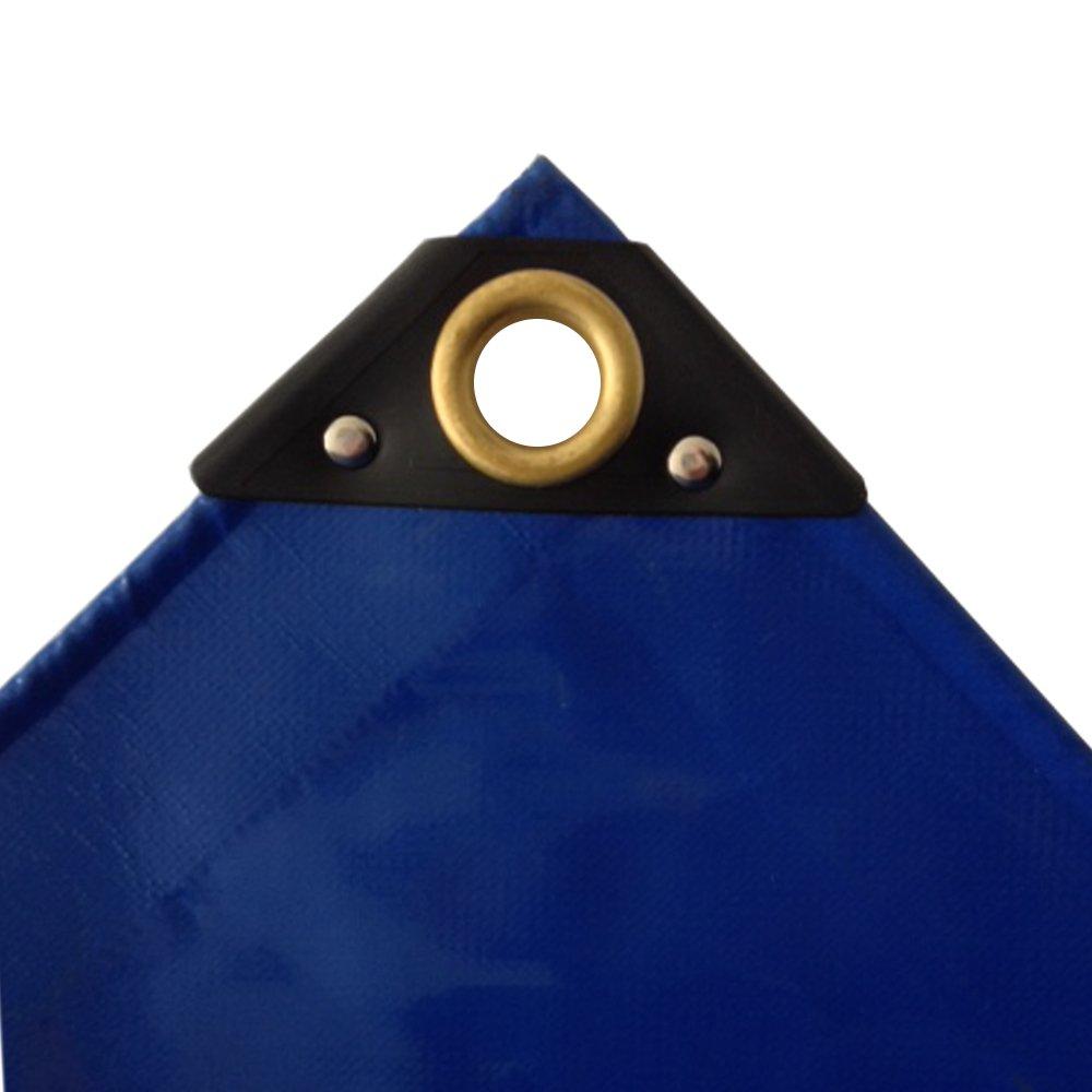 650 g/m² blaue PVC Abdeckplane 4 x 5m (20m²) LKW Plane Industrie Gewebeplane ÖsenUV stabil reissfest wasserdicht Plane Schutzplane