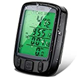YyZCL Multi Function Wireless Bicycle Speedometer,Cycling Odometer With Large LCD Screen Display And Accessible Separated Button Bike Lights