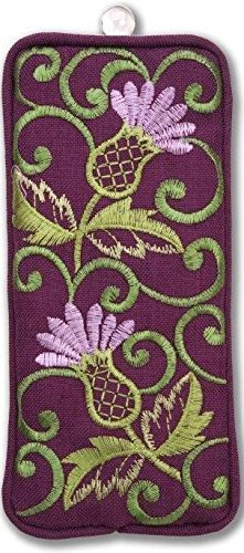(Eyeglasses Case in a Glencoe Thistle Design.)