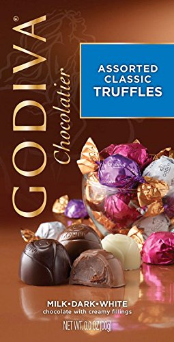 Birthday Godiva - Godiva Chocolate Gem Truffle Trio - 4.25 oz Chocolatier Assorted Classic Truffles