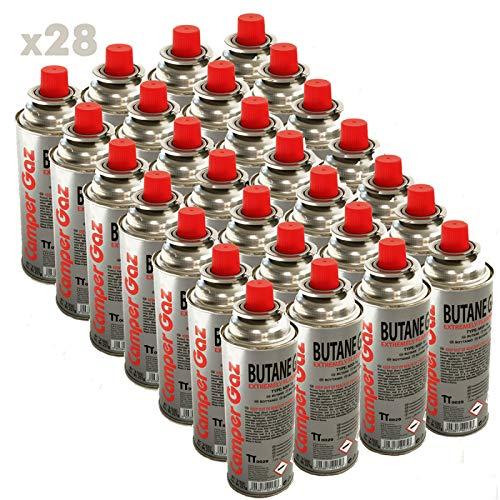 Pack de 28 cartouches gaz Camper Gaz 227gr butane - bouteille de gaz à baillonnette 227 gr - bonbonne pour réchauds camping Providus