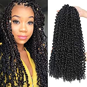 Amazon Com 7 Packs Passion Twist Hair 18 Inch Water Wave Synthetic Braids For Passion Twist Crochet Braiding Hair Goddess Locs Long Bohemian Locs Hair Extensions 22strands Pack 1b Beauty