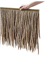 Artificial Mexican Palm Thatch Tile,PE PVC Plastic Will Not Rot,Serve You for 10 Years,Straw Roof for Garden Palapa Tiki Hut Bar Gazebos Wall(Size:24pcs,Color:Grey)