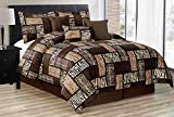 zebra comforter full size - 7 Piee FULL Size Safari Comforter set - Zebra, Giraffe, Leopard, Tiger Etc - Multi Animal Print Bed in a Bag Brown Beige Black White Micro Fur Bedding