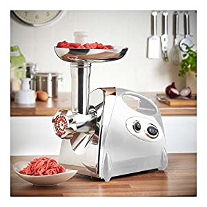 Electric Meat Grinder Sausage Stuffer Stainless Bonus Kibbe Maker 2800W Power