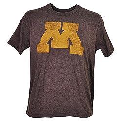 NCAA Minnesota Golden Gophers Distressed Logo Mens Tshirt Tee Burgundy XLarge