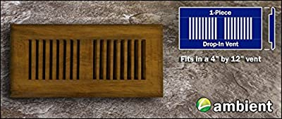 Strand Bamboo Drop In 4x12 Carbonized Vent Grill Prefinished