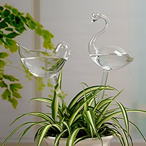 Symbol Of The Brand House Plants Self Watering Device Plants Flowers Clear Glass Water Feeder Bulbs Bird Shape Clear Glass Watering Device Pumps, Parts & Accessories