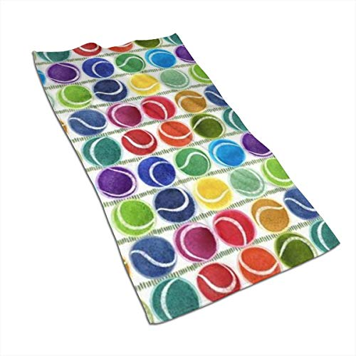 (SWATLOGR Tennis Balls Face Towel,Hand Towel,Kitchen Towels-Dish 3D Design Pattern Towel,Towels for The Kitchen,Cleaning,Cooking,Baking,Dishwashing Towel 15.7x27.5in)
