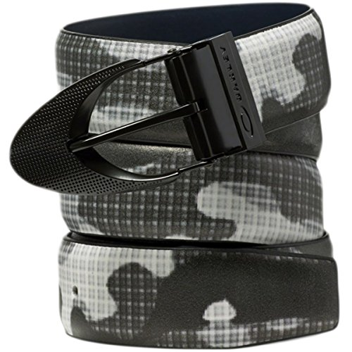 Oakley Mens Signature Ellipse Printed Belt Medium Black - Oakley Watchs
