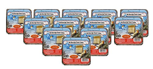 12 Pack Pine Tree Farms Hi-Energy Suet Cake Wild Bird Food 12 oz. - Energy Suet Cake
