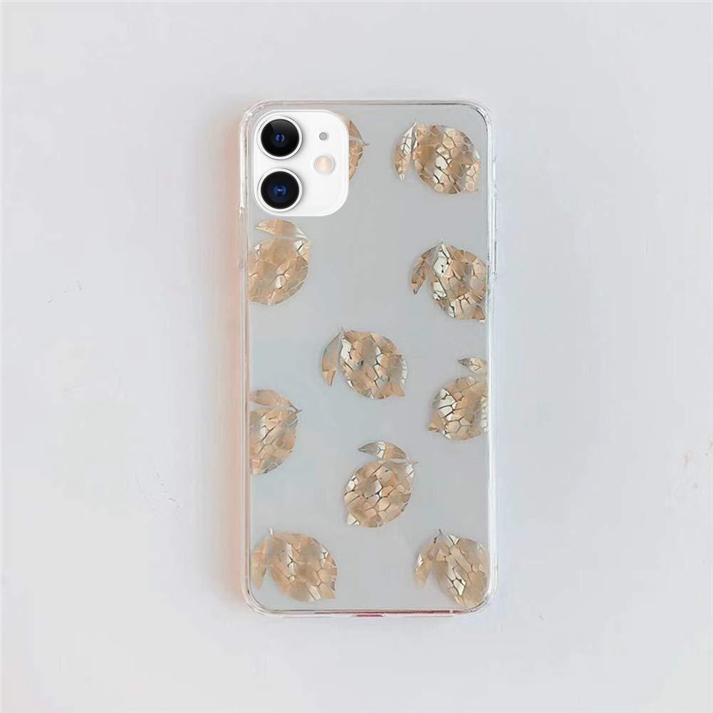 Saceebe Compatible avec iPhone 11 Coque Fleur Feuilles Dessin Glitter Sparkle Paillette TPU Housse de Protection Silicone Motif Souple Etui Mince Fine Housse,Feuilles d/érable