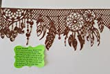 Edible Chocolate Lace - American Native Dream Catcher - Ready to Use Edible Lace