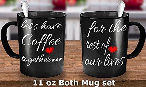 [Engagement coffee mugs set
