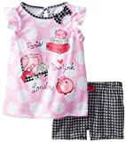 Petit Lem Little Girls'  Jetsetter 2 Piece Shorts Sleep Set