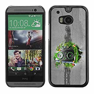 Shell-Star ( Abstract Grass Speakers ) Fundas Cover Cubre Hard Case Cover para All New HTC One (M8)