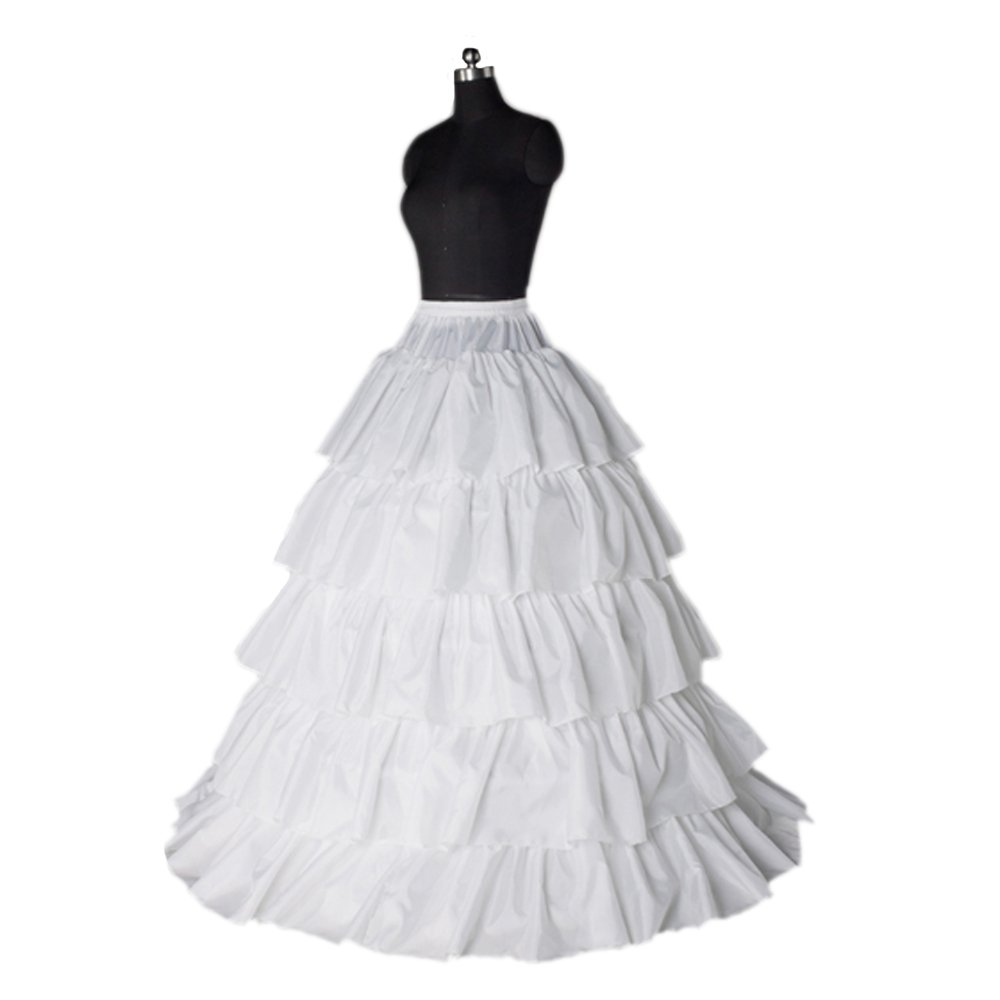 Fashion Plaza 5layers 5hoops Bridal Petticoats for A-line Wedding Dress A0016
