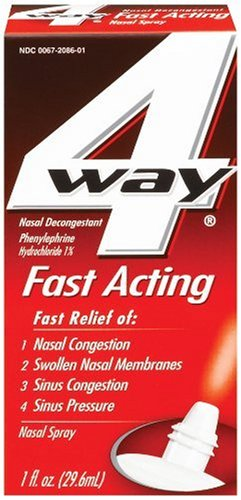 4 Way Nasal Decongestant Nasal Spray, Fast Acting, 1-Ounce (29.6 ml) (Pack of 3) by 4-Way