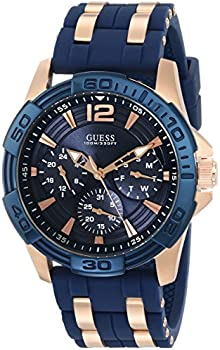 Guess Men's Iconic Blue Multi-Function Two-Tone Watch