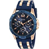 GUESS Men's U0366G4 Sporty Rose Gold-Tone
