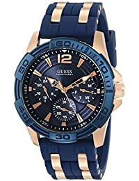 GUESS Men's U0366G4 Iconic Blue Multi-Function Stainless Steel Sport Watch