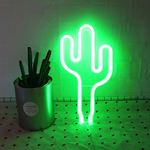 DELICORE LED Cactus Neon Light Sign Wall Decor Night Lights Home Decoration Party Supplies LED Decorative Lights by DELICORE (Image #2)