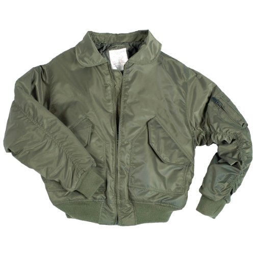 Mil-Tec US CWU Flight Jacket Basic Olive size (Cadet Collar Jacket)