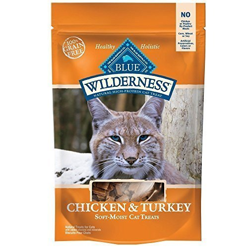Blue Buffalo Wilderness Grain Free Cat Treats - Chicken & Turkey(2Pack)