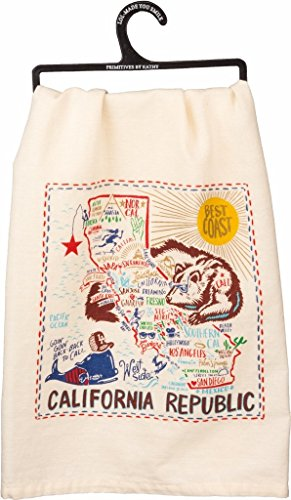 California State Kitchen Towel Primitives by - Pier Shops 39 Francisco San