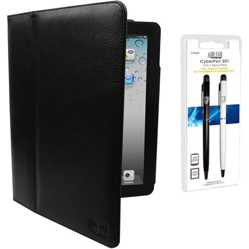 Adesso Leather Case/2-in-1 Stylus Pen for iPad/iPad2/The ...