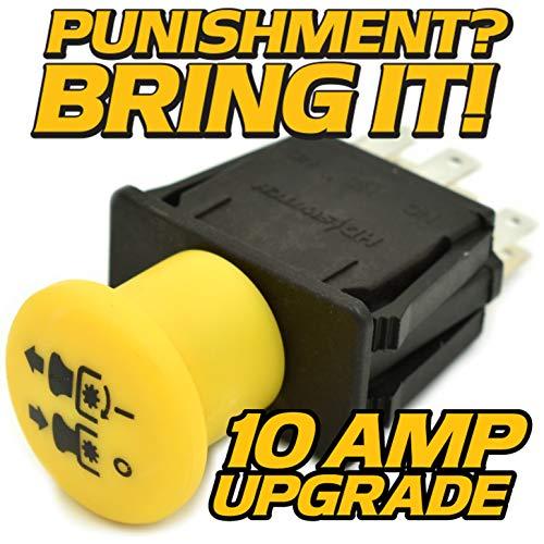 10 AMP, IP53 Sealed Blade Clutch PTO Switch - Replaces Scag 463034, Cheetah, Freedom, Z, Tiger, Cub, SMZ-48, SSZ-20CV ()