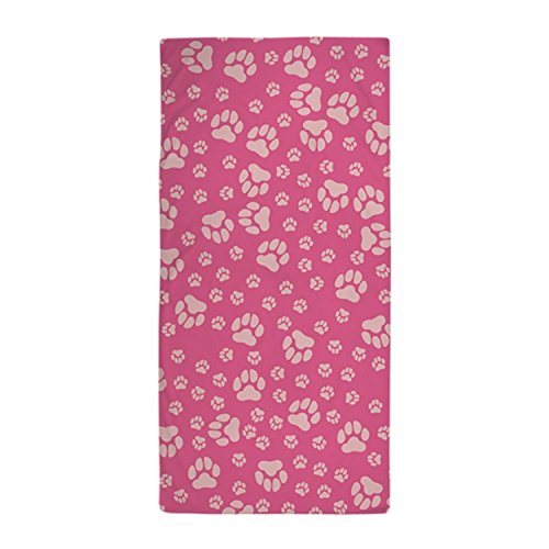 Beach Towel Modern Pink Paw Print Design 30 x 60 Inches Pool Machine Washable, Perfect for College Dorm, Pools, Gyms, Beaches, Locker Rooms, Bathroom Shower Wrap, Beach Wrap, Bath Wrap, - Cheap Native Sunglasses