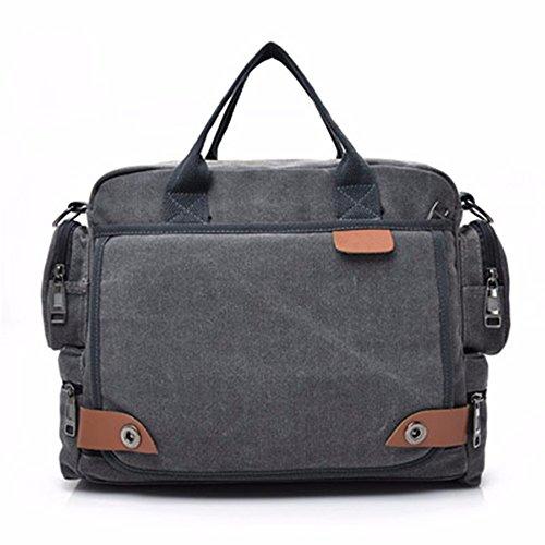 LMDSG Umhängetasche Männer Messenger Bag Canvas Herren Rucksack Business Aktentasche große Kapazität multifunktionale Werkzeugtasche Computer Tasche gray